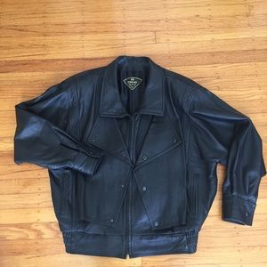 80's Vintage soft leather Moro jacket size XL